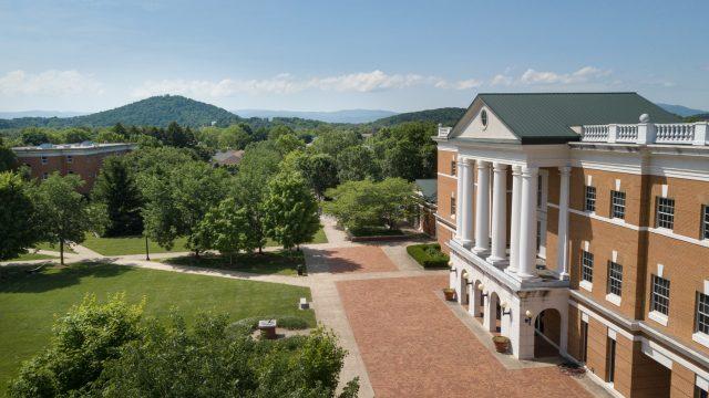 Drone photo of McKinney Center