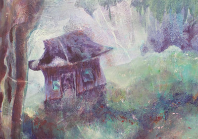 "Photo of Judith Ely's painting ""This Neck of the Woods""