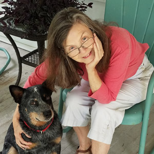 Photo of Sheila Turnage with her dog