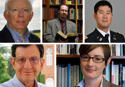 Photo collage of the five speakers|
