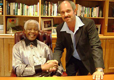 Christo Brand with Nelson Mandela